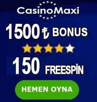 Casinomaxi bonus tablosu